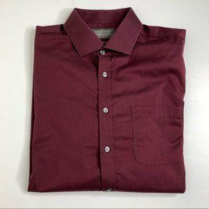 Denver Hayes Men's Never-Iron Classic Fit Shirt